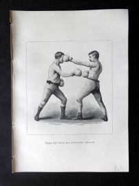 Badminton Library 1889 Boxing Print. Stop for Right-Hand Lead-Off